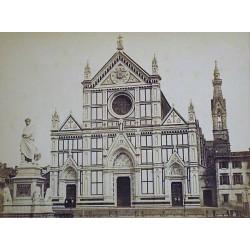 Basilica church of Santa Maria Novella in Florence, Italy. Renaissance facade.