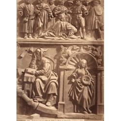 VALLADOLID, BERRUGUETE. DIVERS FRAGMENTS DE STALLES DE CHOEUR (AU MUSÉE DE VALLADOLID). LAURENT, Phot.