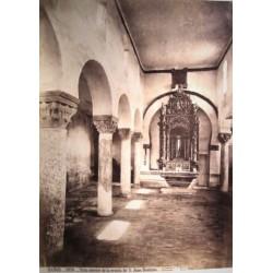 BAÑOS, VISTA INTERIOR DE LA ERMITA DE S. JUAN BAUTISTA. J. LAURENT Phot.