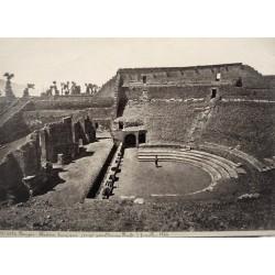 NAPOLI - POMPEIA, Théàtre tragique (erigé par Olcomio Rufo) fouilles 1764