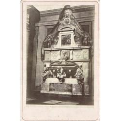 FIRENZE, Chiesa di S. Croce col Monumentoo a Michelangelo. ALINARI Phot.