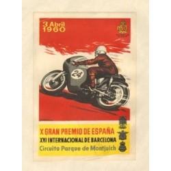 X GRAN PREMIO DE ESPAÑA y XVI INTERNACIONAL DE BARCELONA. 1960. GRANELL. REAL MOTOCLUB CATALUÑA
