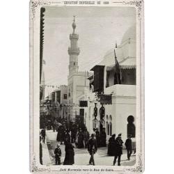PARIS, Exp. Universelle de 1889. Palais Marocain vers la rue du Cairel. N.D. Phot.