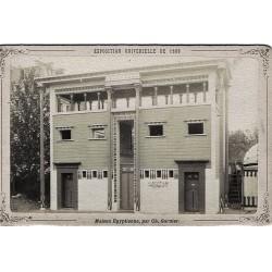 PARIS, Exp. Universelle de 1889.Maison Egyptienne par Ch. Garnier