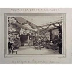 BARCELONA, VISTA DE LA EXPOSICIÓN PADRÓS. EN LA GALERIA J. PARÉS.