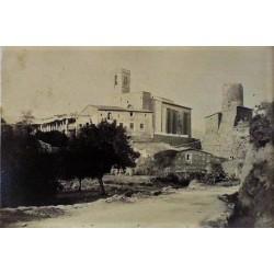S. PERE DE RIBES, (BARCELONA) Vista general y torre de defensa