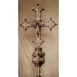 BARCELONA, Cruz procesional de Juan de Arfe siglo XVI. Museos Artísticos de Barcelona