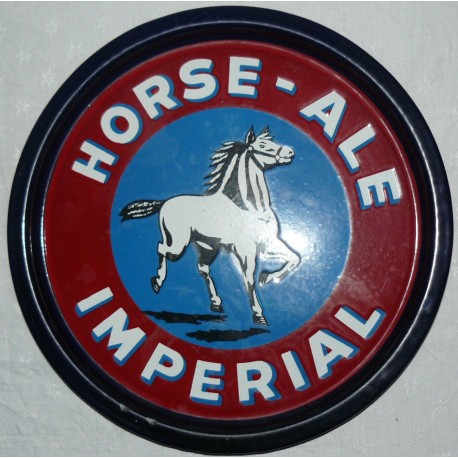 Enamelled tray imperial horse ale. 30 cm.
