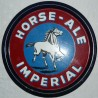 plateau emaillee imperial horse ale. 30cm.