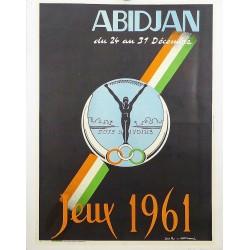 ABIDJAN (CÔTE D'IVOIRE). JEUX 1961