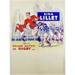 GRAND MATCH DE RUGBY (Football). KINA LILLET