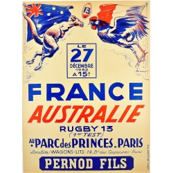 RUGBY 13. FRANCE - AUSTRALIE. 1952