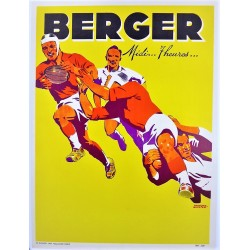 RUGBY / AMERICAN FOOTBALL. BERGER. MIDI...7 HEURES... /