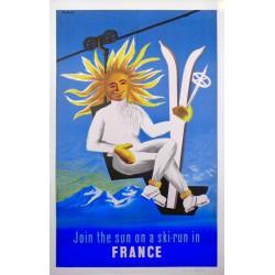 JOIN THE SUN ON A SKI-RUN IN FRANCE /