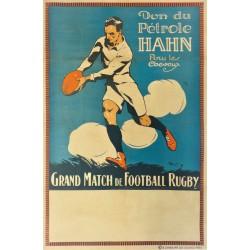 GRAND MATCH DE FOOTBALL RUGBY. PETRLE HAHN /