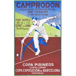 CAMPRODON. CONCURSO INTERNACIONAL DE TENIS 1929. COPA PIRINEOS