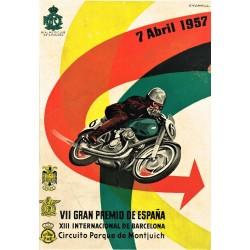 VII GRAN PREMIO DE ESPAÑA. 1957. REAL MOTO CLUB DE CATALUÑA