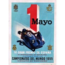 VI GRAN PREMIO DE ESPAÑA. 1 MAYO. 1955. REAL MOTO CLUB DE CATALUÑA
