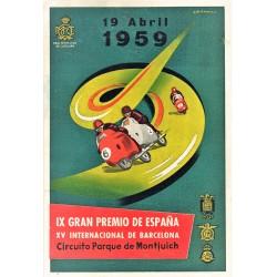 IX GRAN PREMIO DE ESPAÑA. 1959. REAL MOTO CLUB DE CATALUÑA