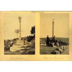 2 FOTOS: CRUZ DE TERMINO VERDU (A) - CRUZ DE TERMINO TORREFARRERA LLEIDA(B). Ph. J. YLLA