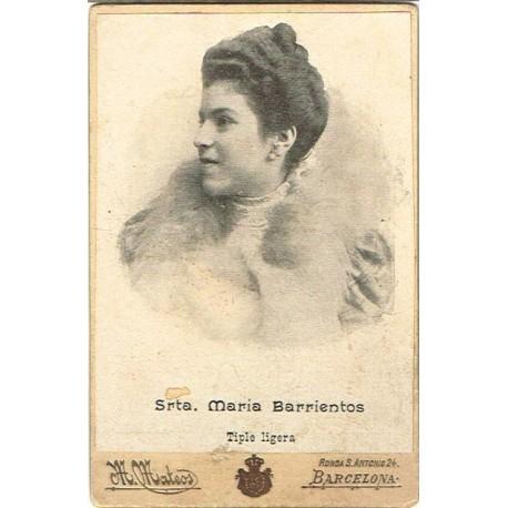 (CdV) MARIA BARRIENTOS. TIPLE LIGERA. Ph. M. MATEOS