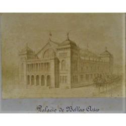 ,BARCELONA, PALACIO DE BELLAS ARTES (Dibujo del proyecto)