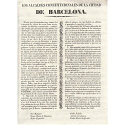THE CONSTITUTIONAL MAYORS OF THE CITY OF BARCELONA. 1840. CARRIAGES