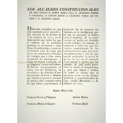 LOS ALCANDES CONSTITUCIONALES. BARCELONA 1823. MARINERIA