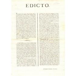EDICTO. BARCELONA 1820. HOMBRES DE MAR