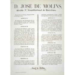 JOSE DE MOLINS MAYOR OF BARCELONA 1856. KNIGHTS