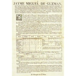 JAYME MIGUEL DE GUZMAN. GOVERNOR BARCELONA 1765. CARRIAGES