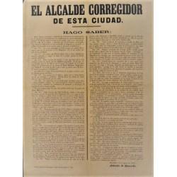 EL ALCALDE DE ESTA CIUDAD. BARCELONA 1865. ANTONIO QUEVEDO. CARRUAJES