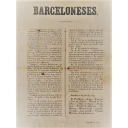 BARCELONESES. 1843. APPEAL OF THE REVOLUTIONARY BOARD AGAINST THE GENERAL ESPARTERO