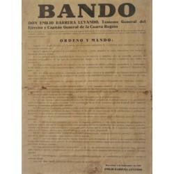 EMILIO BARRERA. TENIENTE GENERAL. BARCELONA 1926. ESTADO DE GUERRA