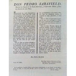 PEDRO SARSFIELD. MARISCAL DE CAMPO. BARCELONA 1814. CARRUAJES Y CABALLERÍAS