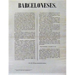 BARCELONESES 14 AUGUST 1847. INAUGURATION PUERTA ISABEL IIª