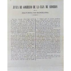 JUNTA DE GOBIERNO DE LA CAJA DE AHORROS. BARCELONA 1860. VISITA ISABEL IIª