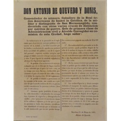 ANTONIO DE QUEVEDO. MAYOR. BARCELONA 1865. CARRIAGES