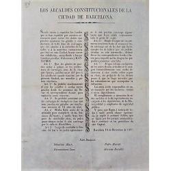 LOS ALCALDES CONSTITUCIONALES. BARCELONA 1837. CARRUAJES