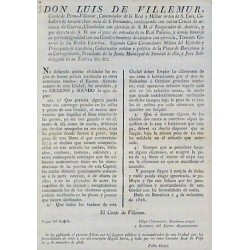 LUIS DE VILLEMUR. GOBERNADOR.BARCELONA 1826. CARRUAJES Y CHIMENEAS