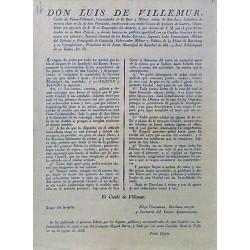 LUIS DE VILLEMUR. GOBERNADOR.BARCELONA 1826. CARRUAJES Y EMPEDRADOS