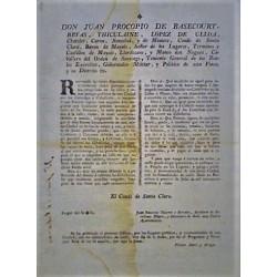 JUAN PROCOPIO. GOBERNADOR. BARCELONA 1795. CARRUAJES Y CABALLERIAS