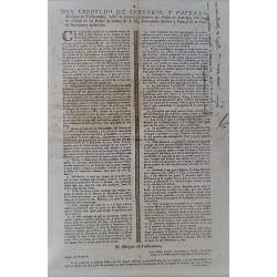 LEOPOLDO DE GREGORIO GOBERNADOR BARCELONA 1802. CARRUAJES Y EMPEDRADO