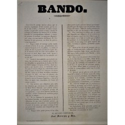 BANDO. BARCELONA 1853. CARRUAJES