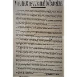 ALCALDIA CONSTITUCIONAL BARCELONA 1875. CARRUAJES