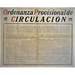 PROVISIONAL CIRCULATION ORDINANCE. BARCELONA 1925.