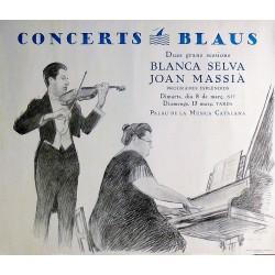 CONCERTS BLAUS. BLANCA SELVA - JOAN MASSIA