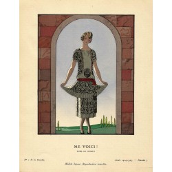 ME VOICI!. ROBE DE WORTH. GEORGES BARBIER. GAZETTE DU BON TON