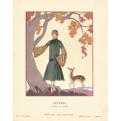 ARTEMIS. MANTEAU DE WORTH. GEORGES BARBIER. GAZETTE DU BON TON