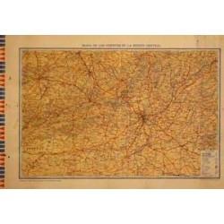 MAPA DE LOS FRENTES DE LA REGIÓN CENTRAL